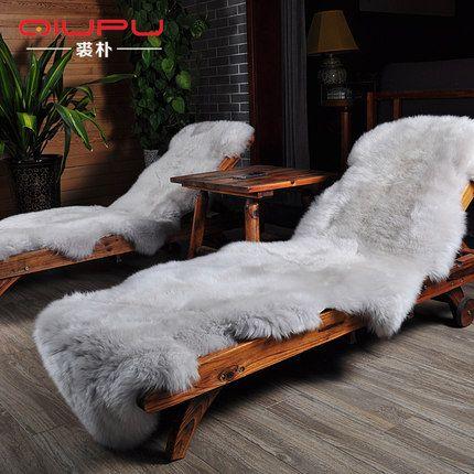 New Luxurious Real Sheepskin Rug 6 Colors Genuine Sheepskin Rug Soft Warm Sofa Seat Pad Double Chair Cover Bedside Sheepskin Rug