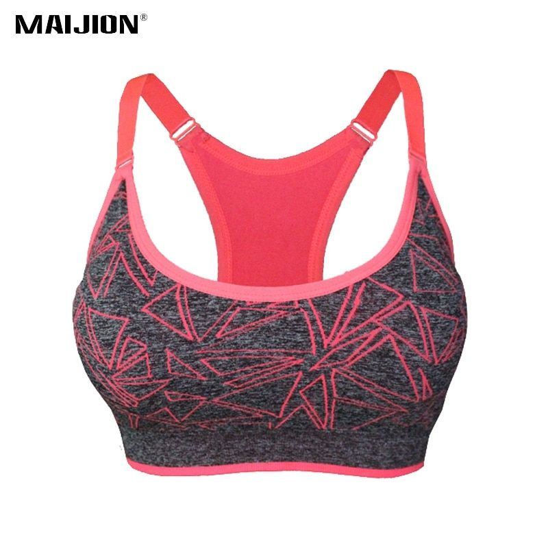MAIJION 2017 Absorb Sweat Quick Dry Sports Bra Stretch Tank Top, Women Adjustable Straps Padded Running Yoga Fitness Vest Tops