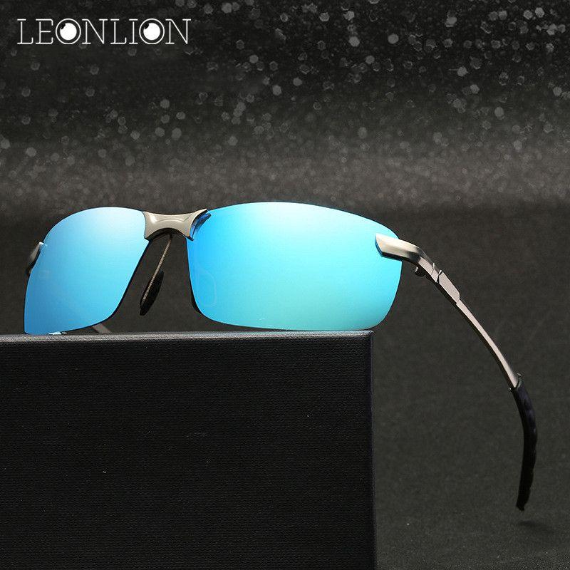 LeonLion 2017 Polarisierte Sonnenbrille Männer Markendesigner Klassische Metall Sonnenbrille Frauen/Männer Outdoor-reisen Driving Oculos De Sol