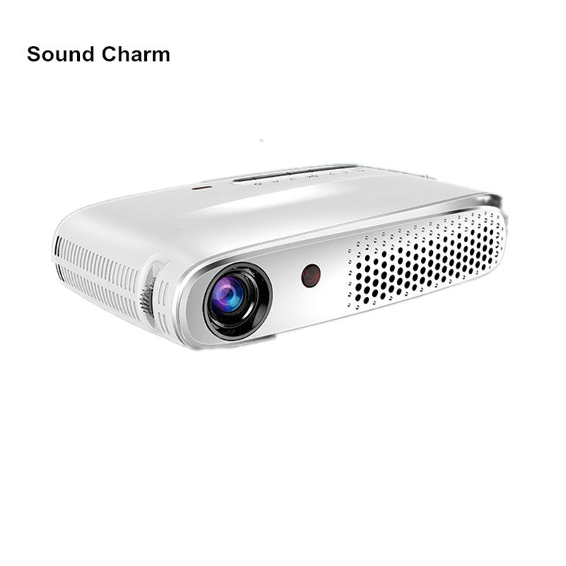 Sound charm Mini Full HD Projector 1280*800 Android Projector Bluetooth, WIFI, Support Airplay, Happycast
