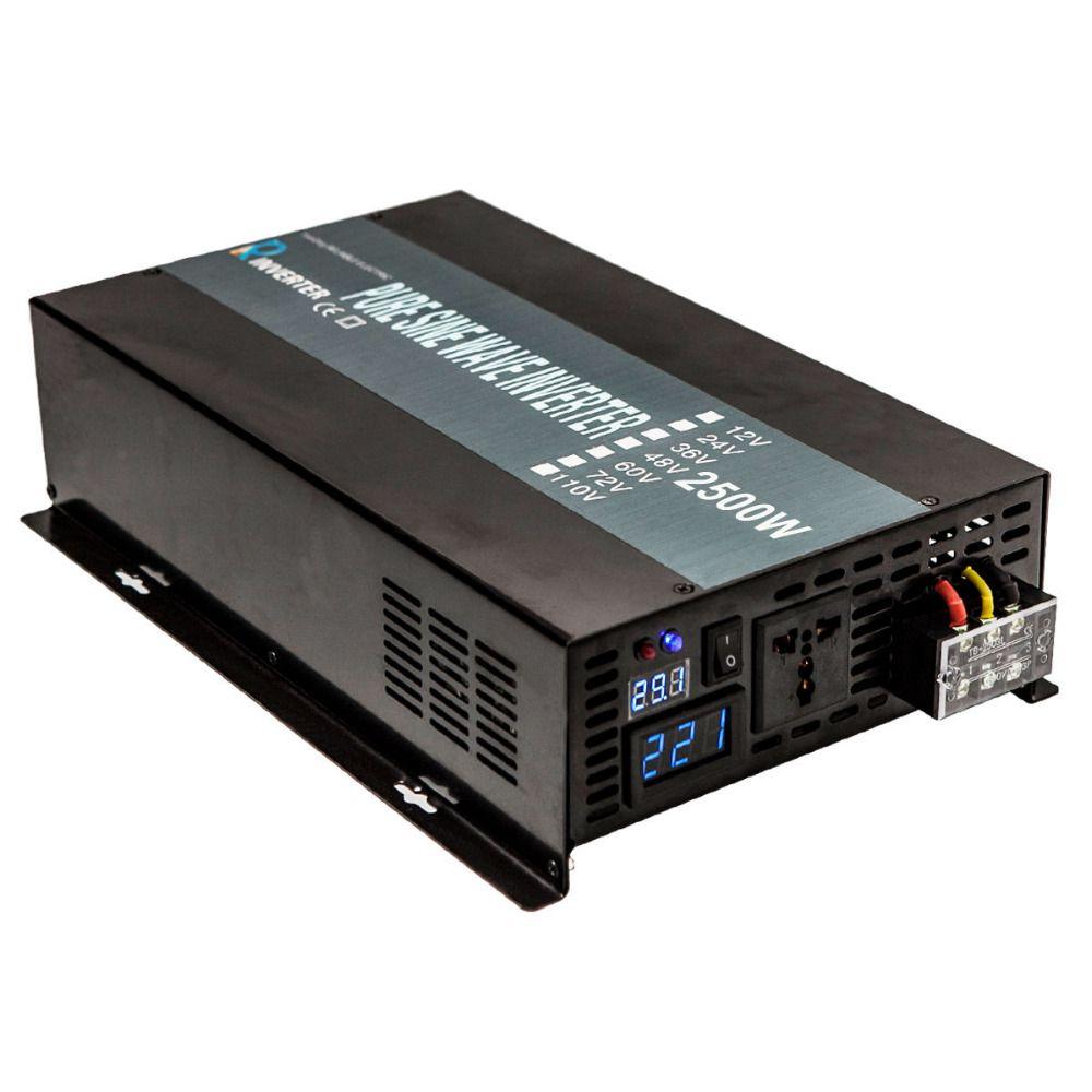 Reine Sinus-wechselrichter 2500 Watt 12 V/24 V DC zu 100 V/120 V/220 V/240 V Ac-wandler Solar Generator Wechselrichter Auto Wechselrichter