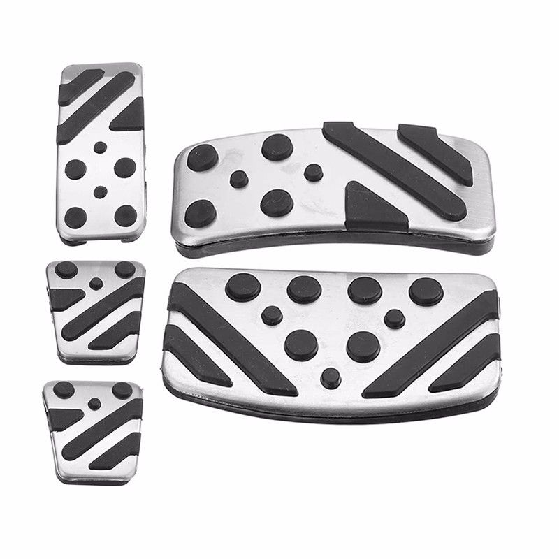 MT AT Car Clutch Brake Accelerator Pedal Foot Rest Pad Covers For Mitsubishi ASX LANCER EX Outlander Car Styling Sticker Cover