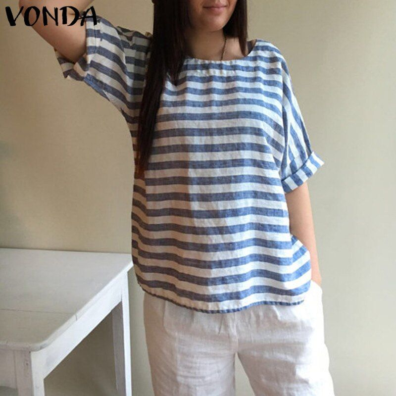 Women Blouses 2018 Maternity Clothes Summer Pregnant Cotton Striped Shirts Batwing Sleeve Casual Loose Tees Plus Size Blusas Top