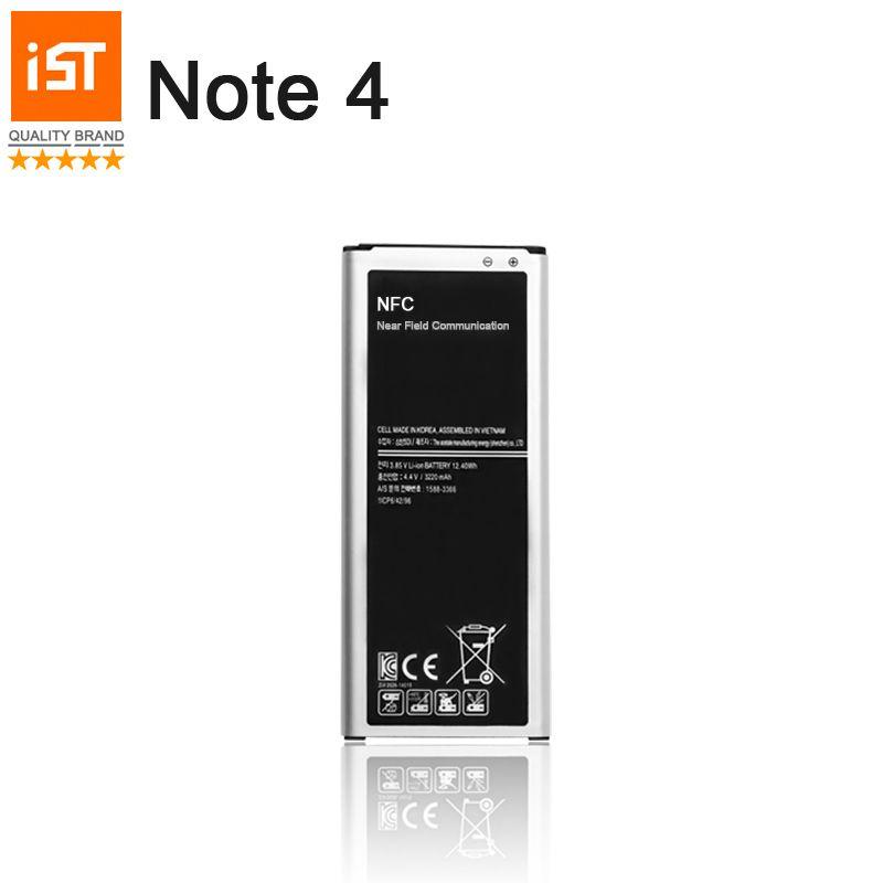 100% IST D'origine Batterie de Téléphone portable Pour Samsung Galaxy Note 4 N910 N910C N910A N910V 3220 mah Intégré NFC Remplacement batterie