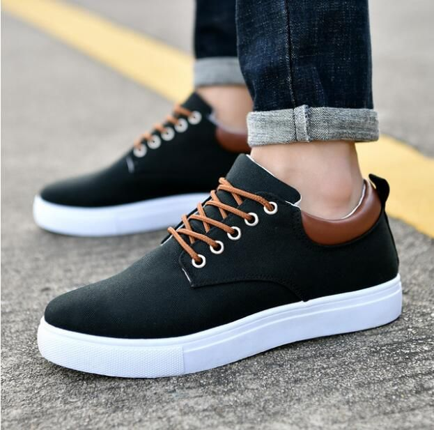 2018 Men's casual shoes flat new canvas wild fashion Solid lightweight breathable KH401-434 casual shoes large size 36-45