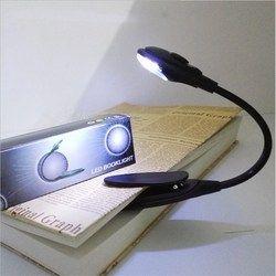 Luz del libro del LED mini Clip-on flexible brillante Lámpara LED libro de lectura lámpara para dormitorio lector de libros navidad regalos