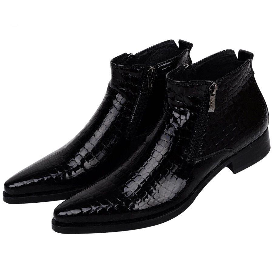 Большой размер eur46 серпантин синий/черные мужские ботильоны Свадебная вечеринка обувь из натуральной кожи мужские туфли