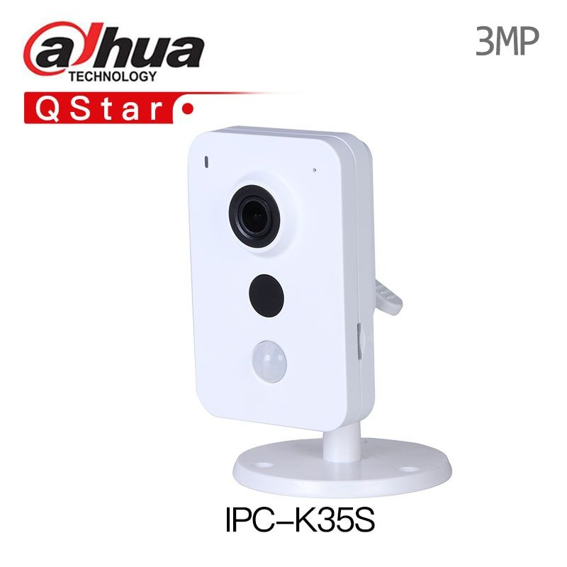 DaHua Wireless IP Camera IPC-K35S 3MP Dual Band Wi-Fi Network Camera built in mic and speaker mini PIR replace DS-2CD2442FWD-IW
