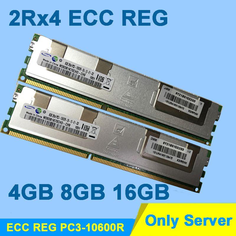 Pour Hynix DDR3 4 GB 8 GB 16 GB DDR3 1333 MHz PC3-10600R 2Rx4 ECC REG RDIMM RAM DDR 3 1333 Seulement Pour Serveur Mémoire Garantie À Vie