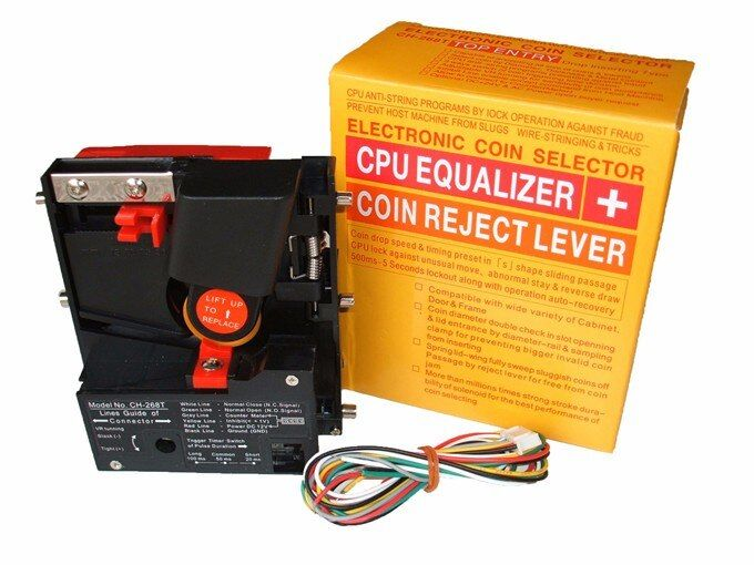 CH-268 Top entry CPU comparable coin acceptor selector for AU $1 OR $ 2 or coin or token under 2.8mm