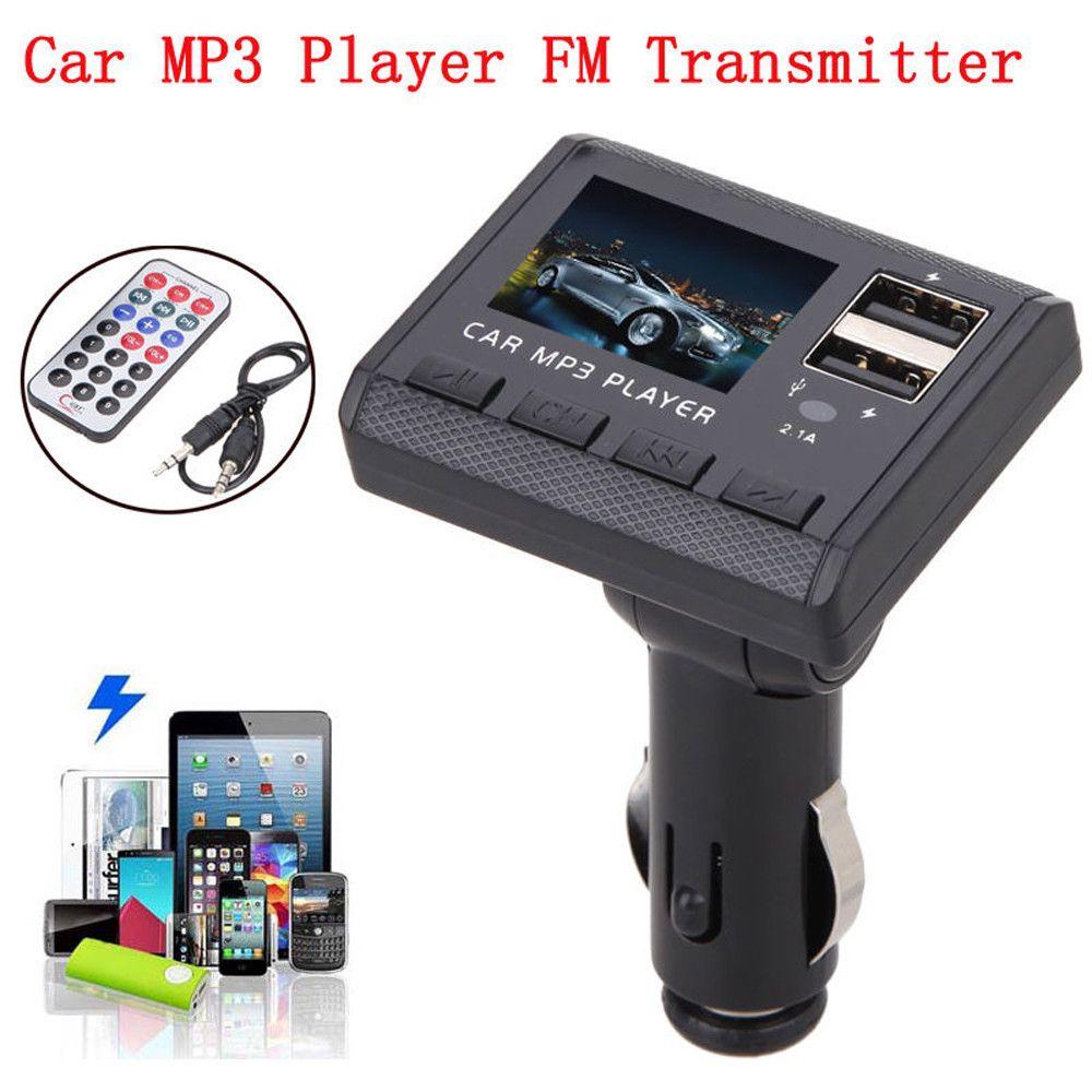 1PC Universal Car Electronic Car Interior Music MP3 Player FM Transmitter Modulator Dual USB Charging SD MMC Remote