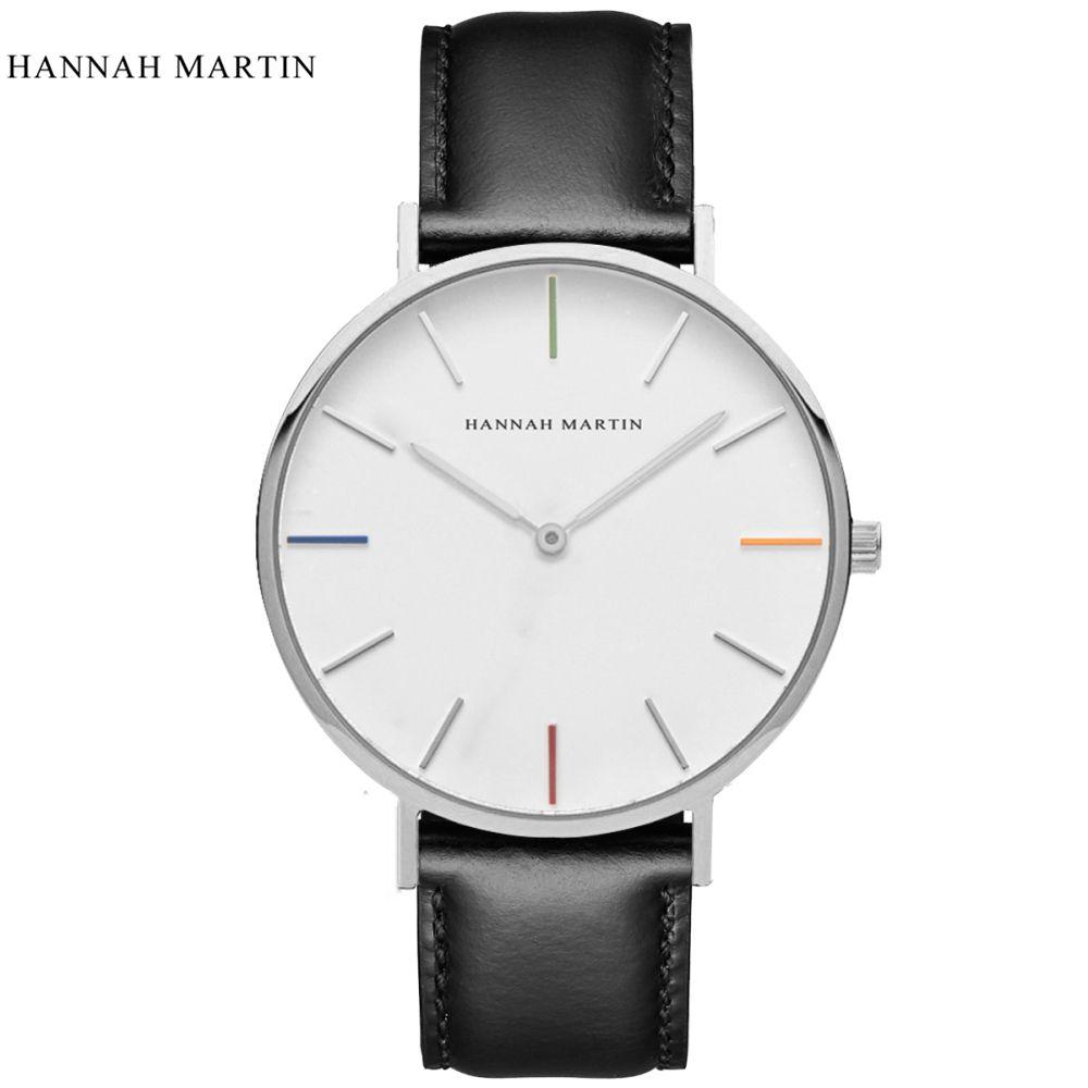 Ханна Мартин Watch Top брендовые дизайнерские женские часы кожаный ремешок роскошные женские часы Relogio feminino