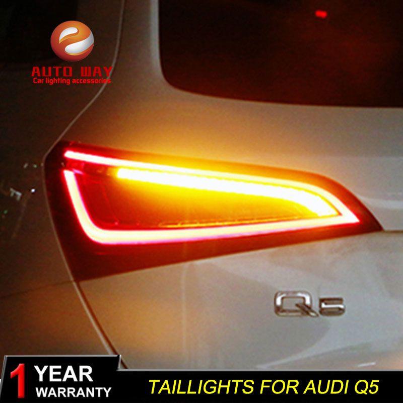 Auto Styling Fall für Audi Q5 2009-2015 Rückleuchten rückleuchten LED Rücklicht Hinten Lampe DRL + Drehen signal + Bremse + Reverse