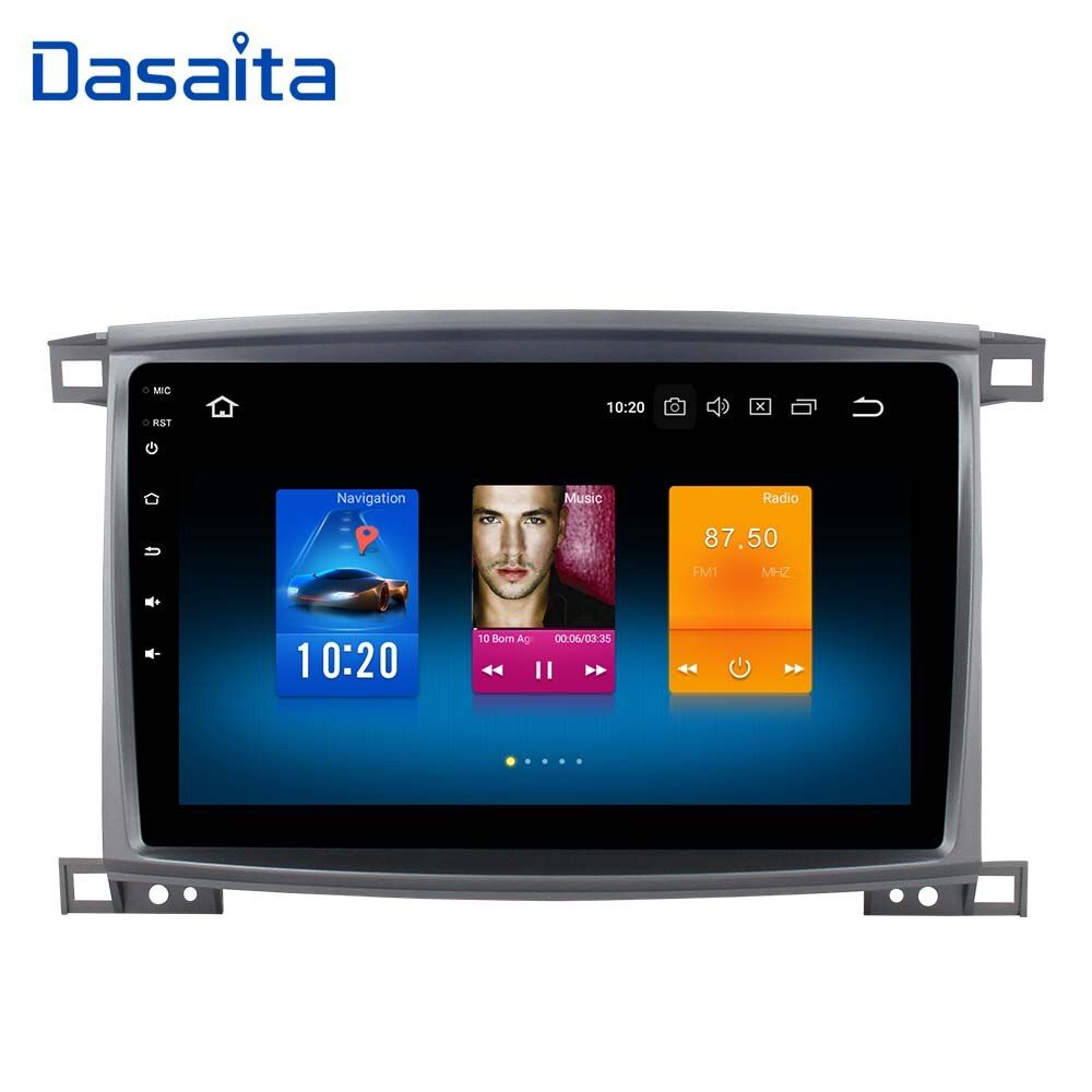 1 din Car Radio GPS Android 8.0 for Toyota LC 100 Land Cruiser 100 2003 with 10.2