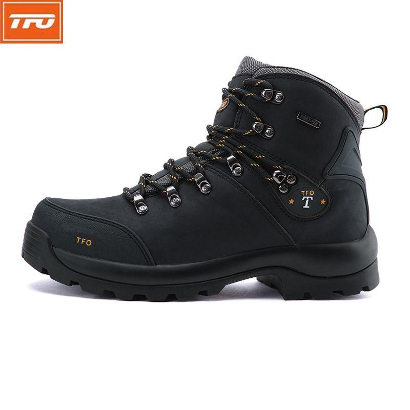 TFO senderismo zapatos hombre mujer zapatos de Senderismo Botas de montaña impermeables zapatos de cuero Genuinos al aire libre Escalada pesca invierno tácticos
