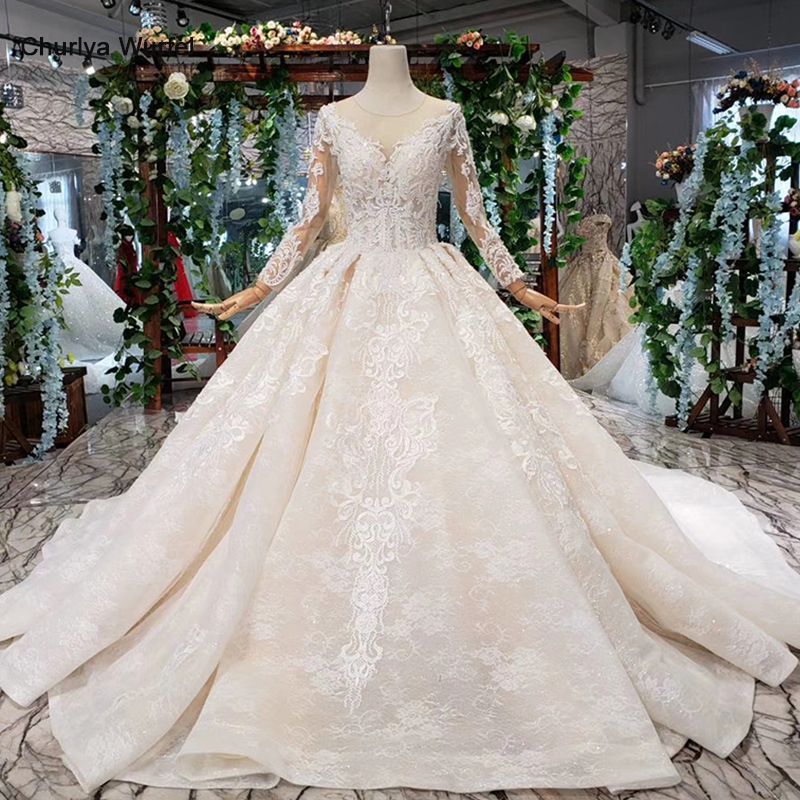 HTL372 luxus beliebte Hochzeit Kleid mit abnehmbaren zug o neck lange brautkleid kleid verschiffen frei vestido de noiva princesa