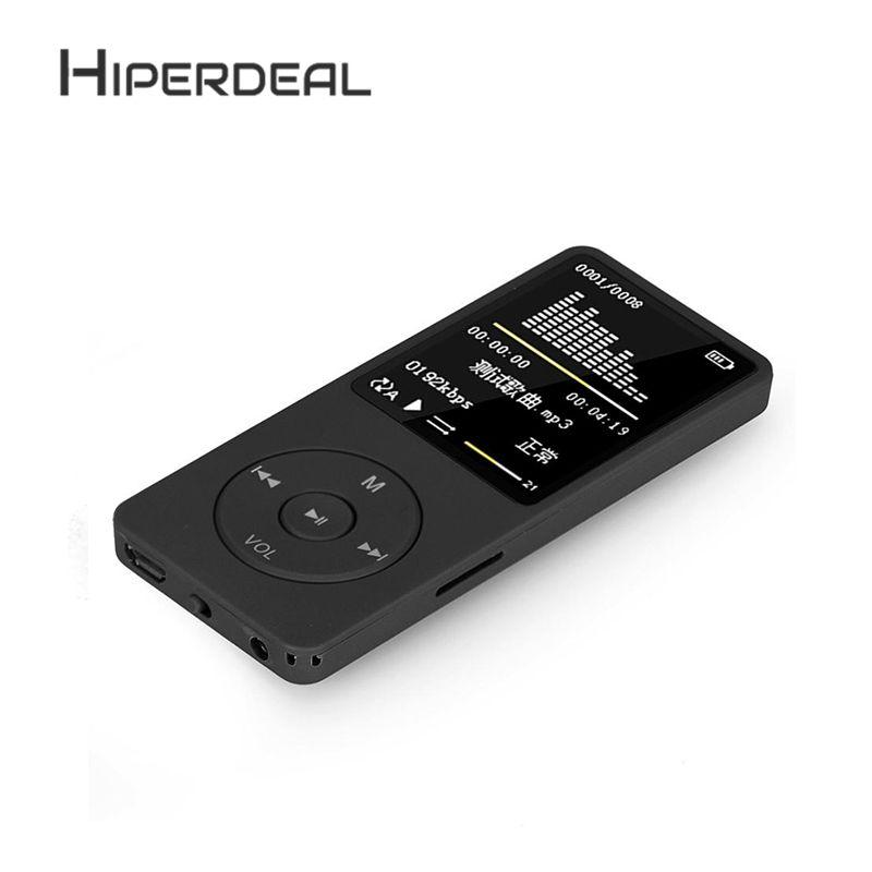 HIPERDEAL 8 gb 70 Stunden Wiedergabe MP3 MP4 Verlustfreie Sound Musik-Player FM Recorder TF Spiele & Film FM Radio stimme Recorder Sep19