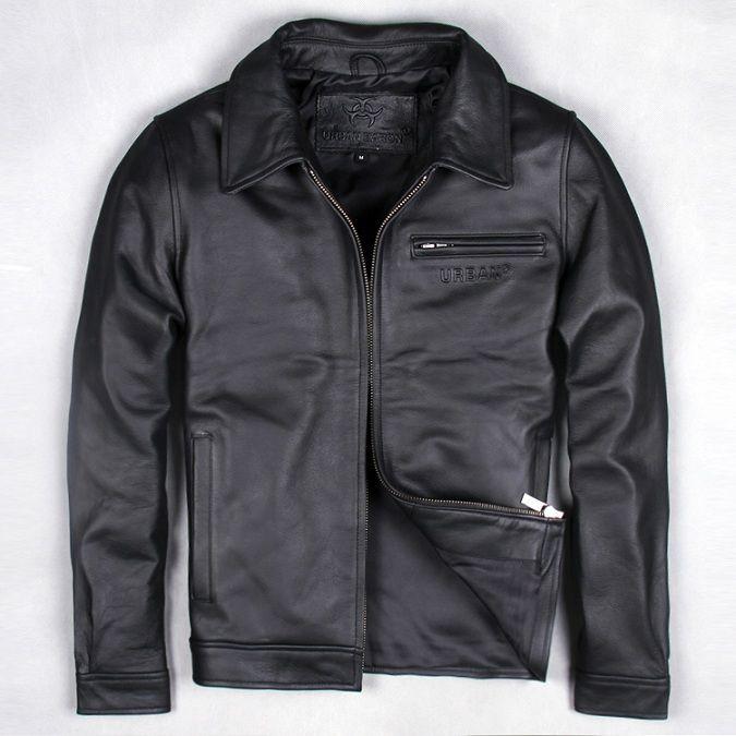Бесплатная доставка. EMS брендовая одежда мужские кожа коровы Куртки, мужские туфли из натуральной кожи байкерская куртка. мотоцикл Homme Фитне...