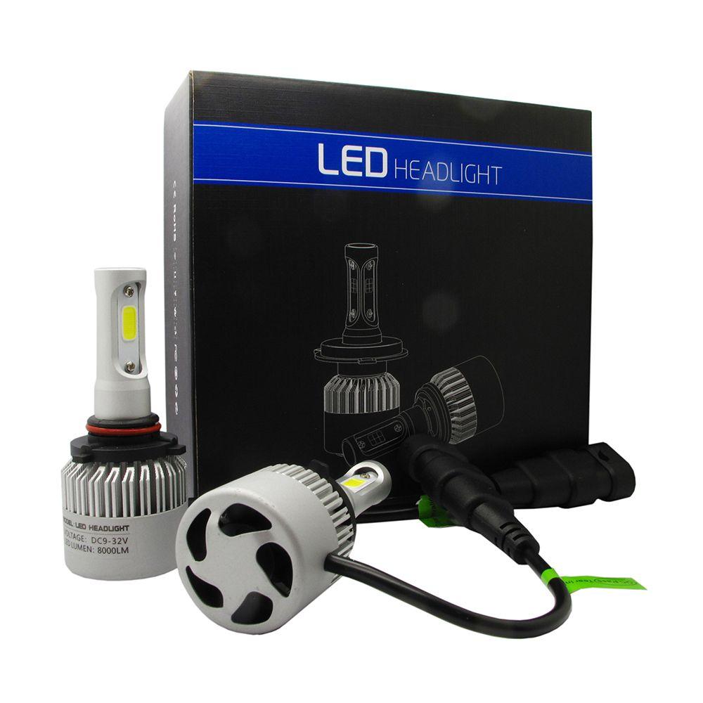 2x Car LED 9005 HB3  Headlight Conversion Kit Bulbs 6000K 8000LM Plug Play Auto Fog Lamps Cooling Fan S2 Series