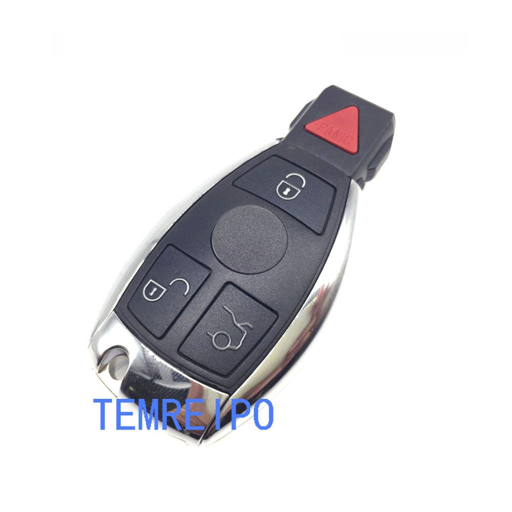 4 Buttons Remote Smart Car Key Case Shell Replacement for Mercedes Benz E550 ML350 SL65 E63 G55 AMG R350 S600 C300 with logo