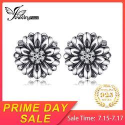 Jewelrypalace Vintage Bunga Cubic Zirkonia Anting-Anting 100% 925 Sterling Silver Merek Baru Perhiasan Aksesoris Hadiah