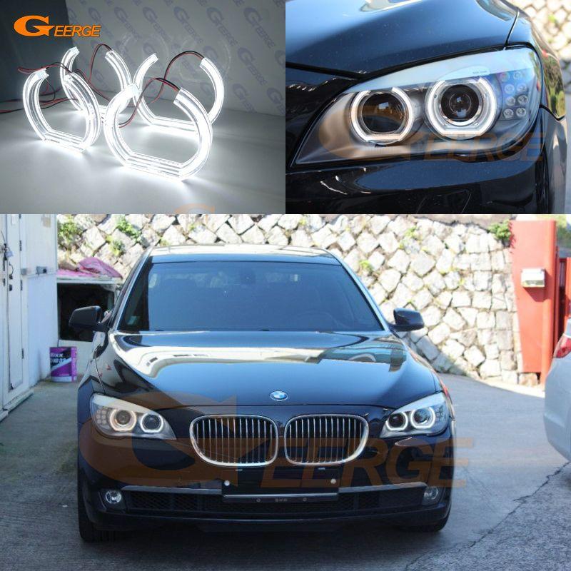 Für BMW 7 Series F01 F02 F03 F04 730d 740d 740i 750i 760i 2008-2012 XENON SCHEINWERFER DTM Stil ultra helle led Angel Eyes kit