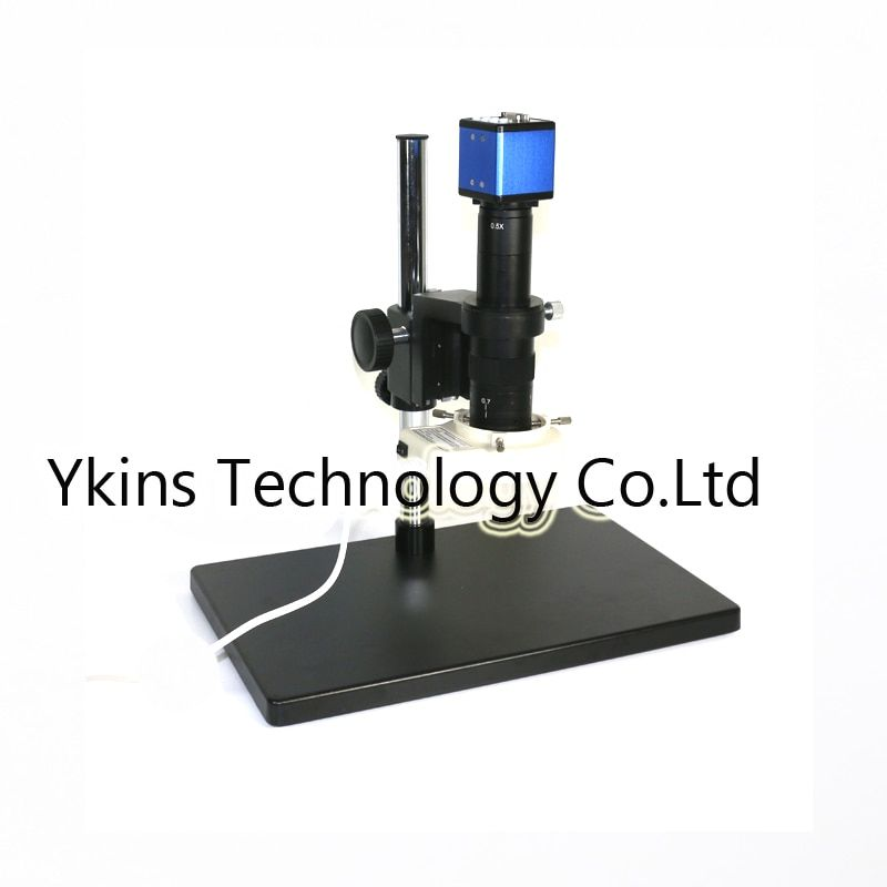 VGA output Industry Video Microscope Camera +180X /300X C-mount with big boom stand table For PCB SMD SMT Repair Inspection Tool