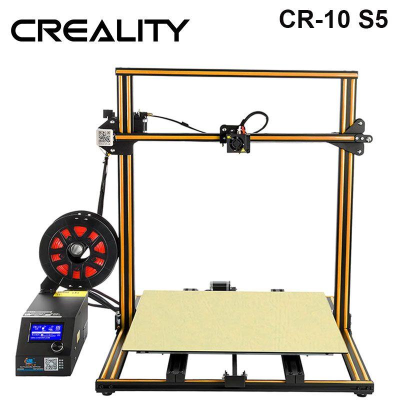 CREALITY 3D Grande Taille D'impression 500*500mm CR-10 S5 Dua Z Tige Filament Capteur/Détecter Reprendre Mise Hors Tension 3D Imprimante kit de bricolage