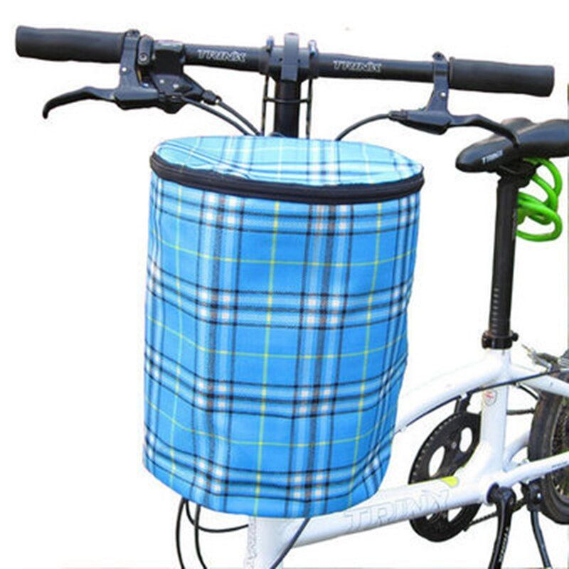 Creative 2016 New Bicycle Basket Detachable Canvas Bike Handlebar Front Cycling Bags Bike Head Drawstring Storage Bag