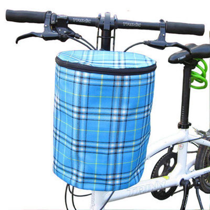 Creative 2016 New Bicycle Basket Detachable Canvas Bike <font><b>Handlebar</b></font> Front Cycling Bags Bike Head Drawstring Storage Bag
