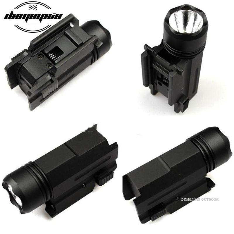 FÜHRTE Shotgun Gewehr Glock Pistole Flash-Licht Taktische Taschenlampe Taschenlampe mit Release 20mm Halterung für Pistole Airsoft