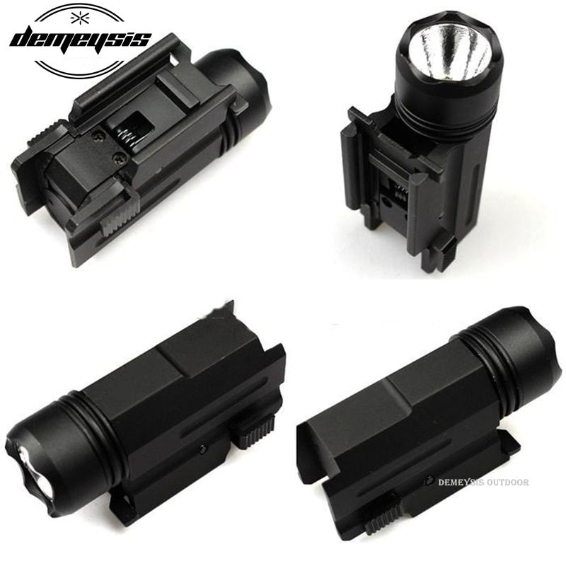LED Shotgun Rifle Glock Gun <font><b>Flash</b></font> Light Tactical Torch Flashlight with Release 20mm Mount for Pistol Airsoft