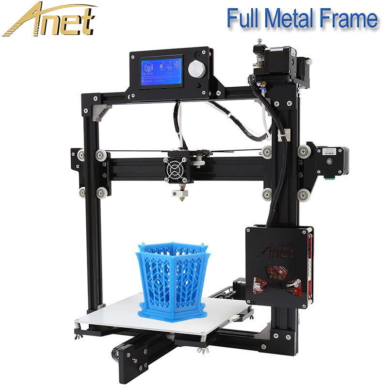 2018 Cheap 3D Printers Anet A2 DIY 3D Printer Kit with Auto Leveling Sensor Plus Size 220*270*220MM Impresora 3D Drucker