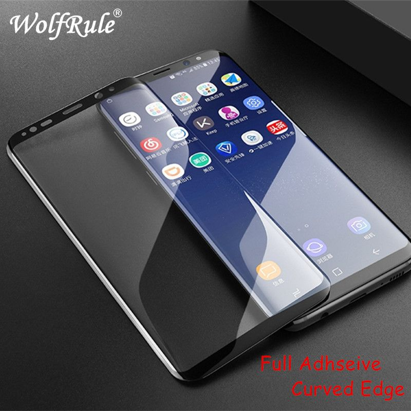 Full Glue Curved Tempered Glass sFor Samsung Galaxy S8 Curved 3D Screen Protector Phone Film For Samsung Galaxy S8 Glass G9500