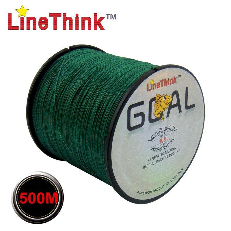 500 M marque LineThink objectif japon Multifilament 100% PE tressé ligne de pêche 6LB à 120LB livraison gratuite