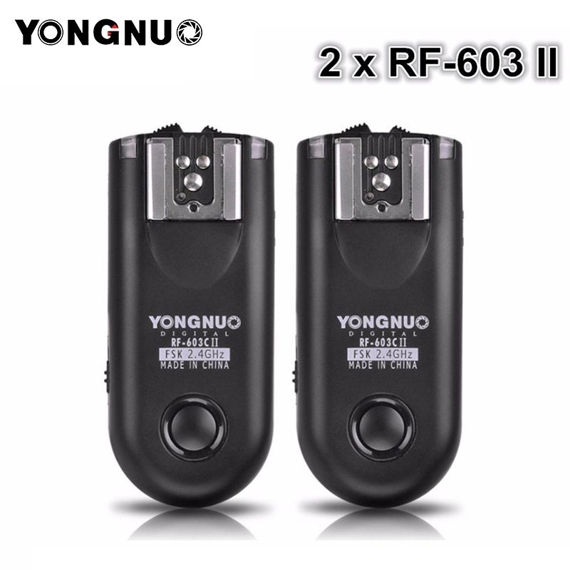 YONGNUO 2 stücke RF-603 II Flash Trigger Transceiver Set, auslöser für Canon Nikon Pentax DSLR Kamera RF-603 II C1 C3 N1 N3
