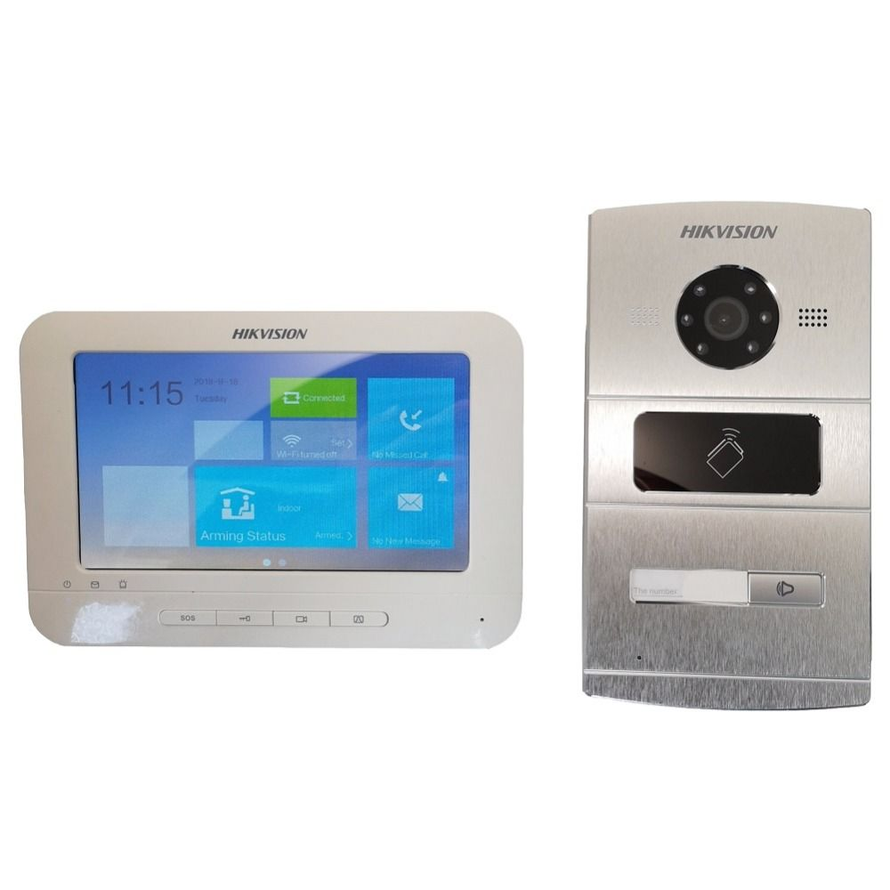 HIKVISION Video intercom KIT DS-KV1102-1A DS-KH1310-AL Include 1*outdoor station and 1* Indoor monitor IP Door phone Doorbell