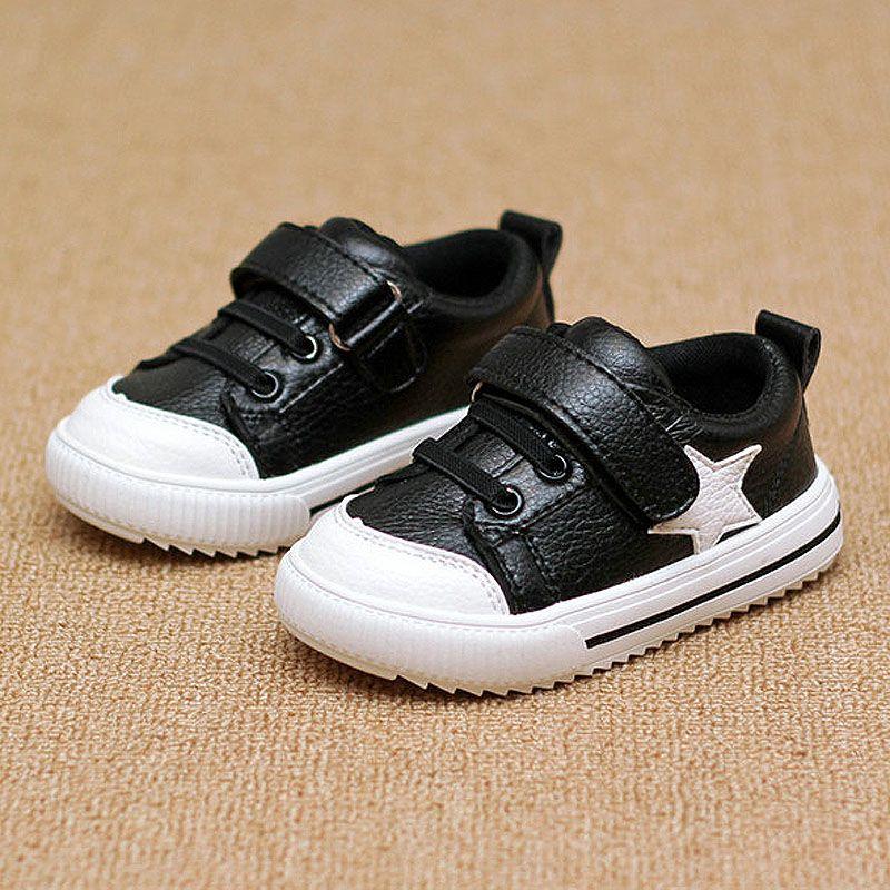 Niños deporte Zapatos cuero Niños Niñas Zapatos de cuero manera del bebé al por mayor sneakers niños cómodos pisos Zapatos otoño rojo