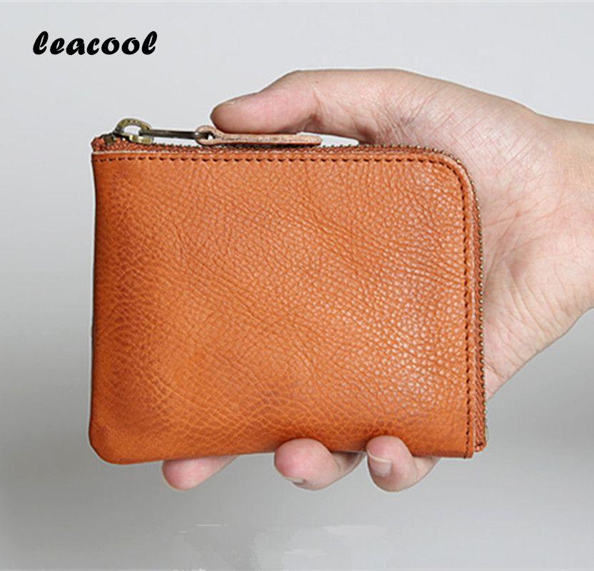 Leacool 4 цвета 100% Пояса из натуральной кожи портмоне Для женщин мини-кошельки Кошелек для монет модные женские туфли кошельки молния кошелек с...