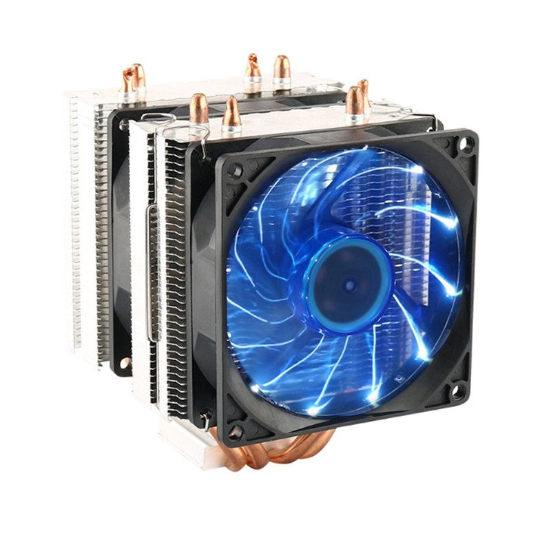 Dual Fan Heatpipe Radiator CPU Cooler Cooling Fan Heatsink For PC Case Intel Intel LGA 2011/1366/1155/1156/775 AMD AM2/AM2+/AM3