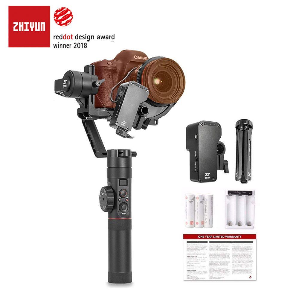 ZHIYUN Offizielle Kran 2 3-Achsen Kamera Stabilisator mit Folgen Fokus Kontrolle für Alle Modelle von DSLR Spiegellose Kamera