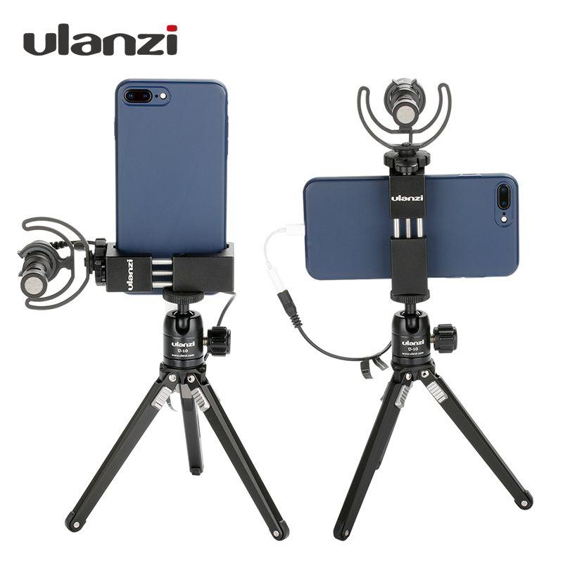 Ulanzi 360 adaptateur Vertical pour trépied de téléphone pour iPhone X 8 7 Plus support pour téléphone portable Samsung