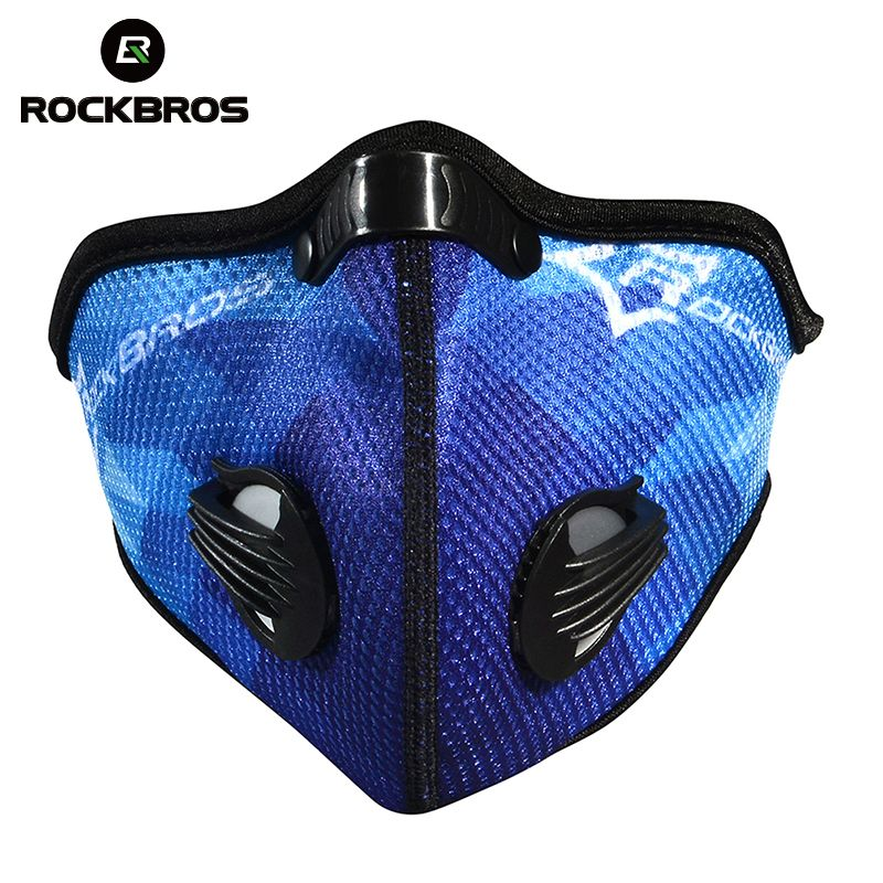 Rockbros Cycling Bicycle Anti-Pollution Masks Activated Carbon Air Filter Mask Outdoor Sports Mouth-Muffle Dust Half Face Covers