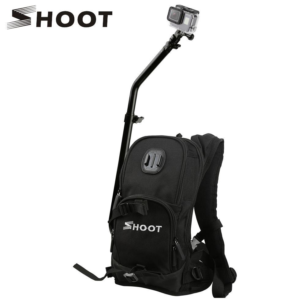 SHOOT Motorcycle Bicycle Travel Selfie Backpack for GoPro Hero 7 6 5 Session Cam Bag Camera Backpack For Yi 4K Sjcam Sj4000 H9r