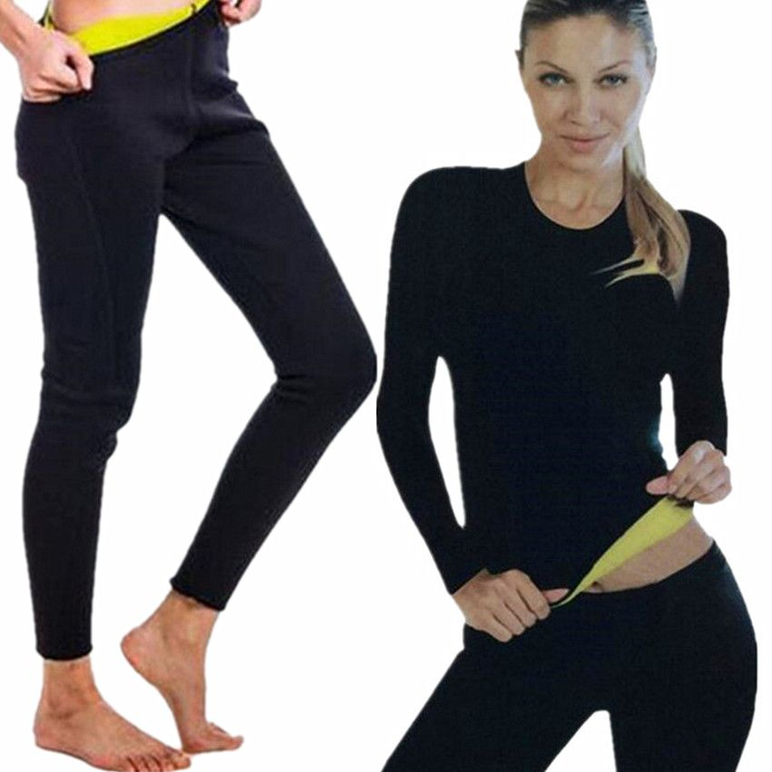 Hot Slimming Shaper Pants Neoprene Slim Fat Burning Weight Loss Natural Waist Trainer Neoprene Detox Workout Body Shapers Shirt