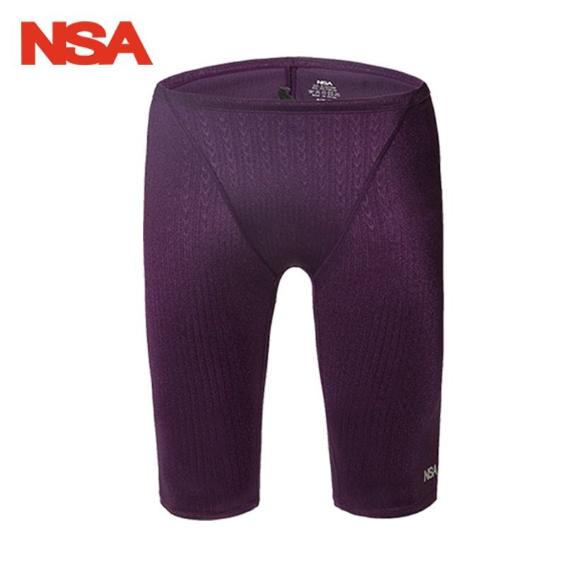 NSA Arena Swimwear Men Swimsuit Trunk sharkskin professional swimming jammer trunks competition trainning swimsuit