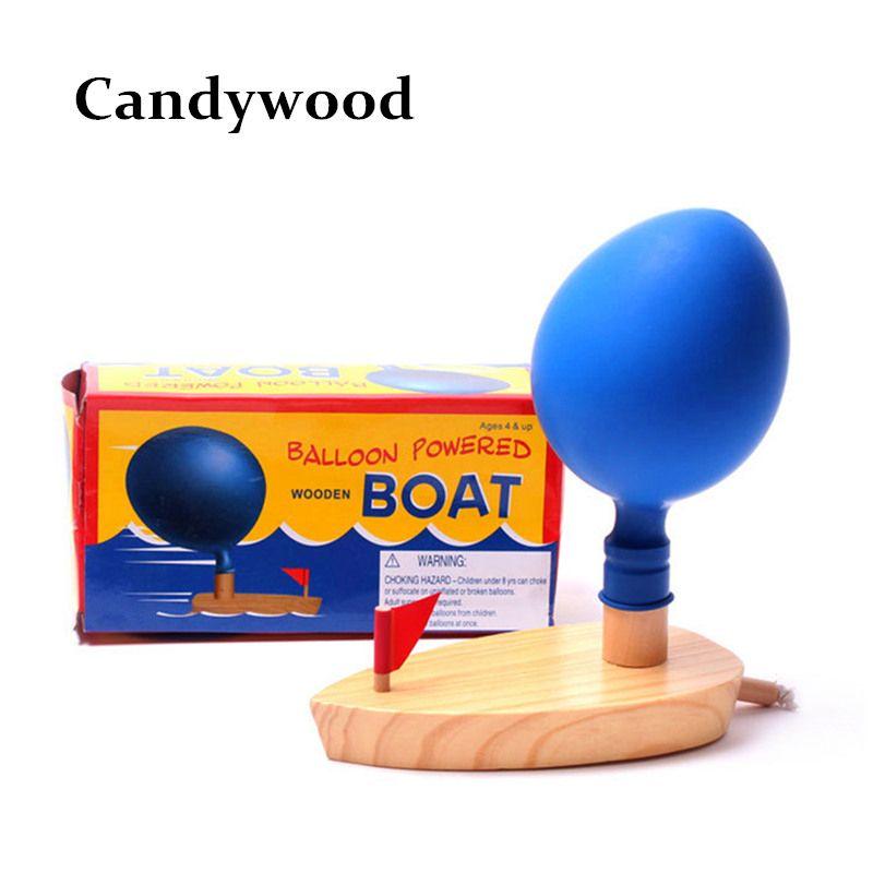 Jouets de bain de bébé ballon jouets de bateau de puissance dans la salle de bains jouets classiques jeu drôle jouets de bain en bois cadeau