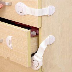 10 Unids de Alta Calidad cerraduras De Seguridad para niños Puerta de Gabinete Cajones Nevera Wc Plástico Alargar cerradura cerraduras de Seguridad Del Bebé