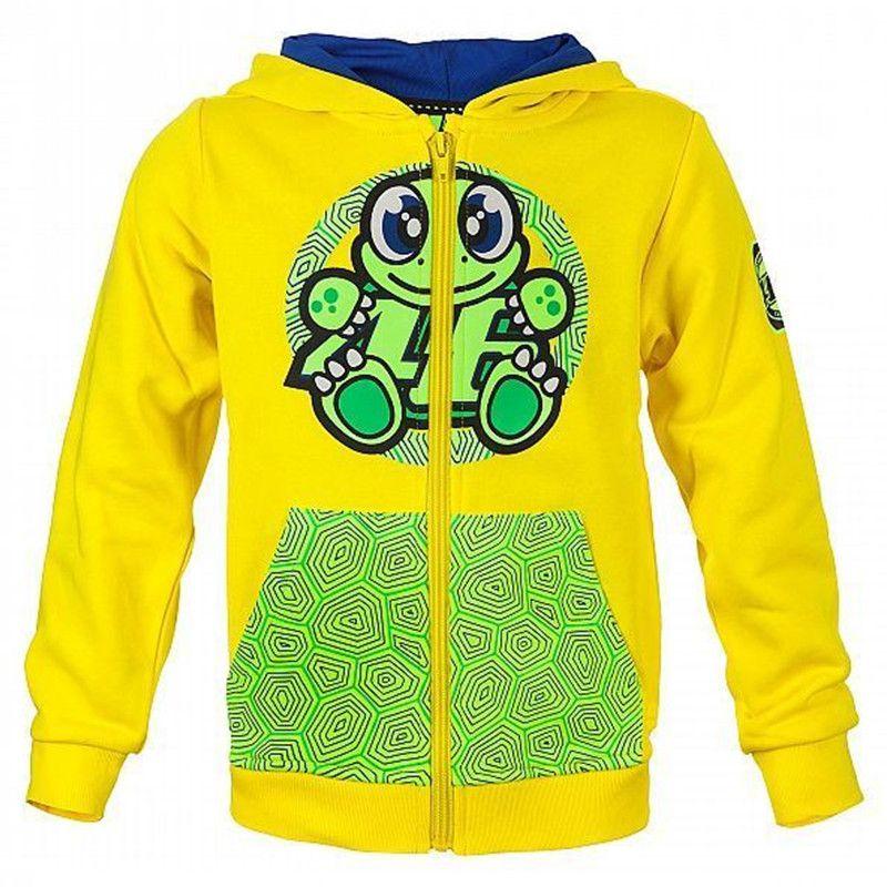 2017 New Motorcycle MotoGP Hoodie VR46 Valentino Rossi Sweatshirt Yellow Hoodie Adult Hoodie Sports Sweatshirt Jackets