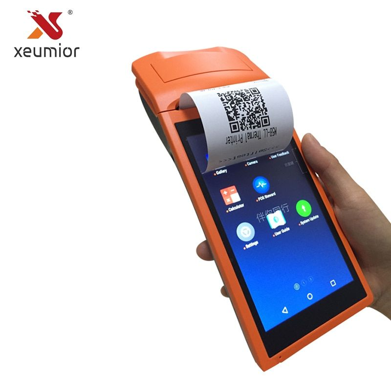 Xeumior SM-V1S Android 3G Pos System 5.5 Inch Display Mobile Handheld Printer Smart POS Terminal With Printer Wireless Bluetooth